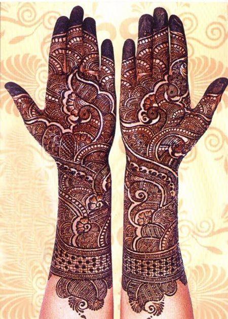 Bridal Mehndi Rates In : Latest new indian bridal dulhan mehndi henna designs style