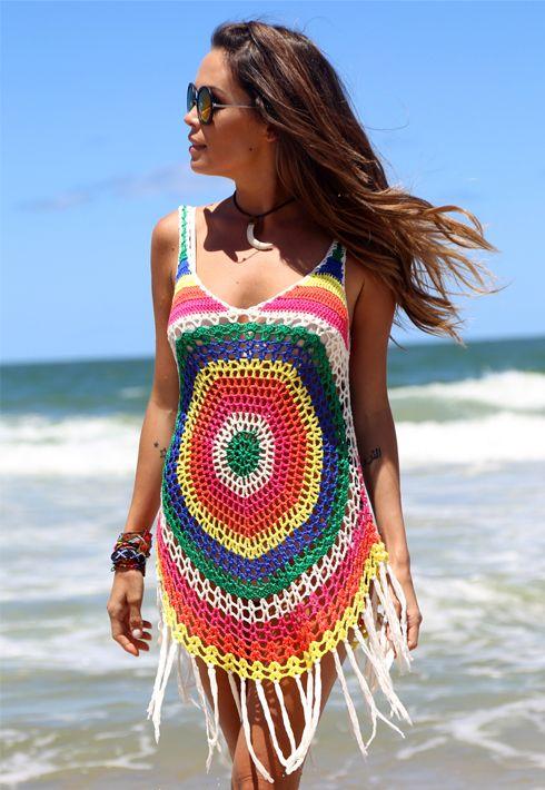 Blusa Crochê Color » Blusas  418edaa8927