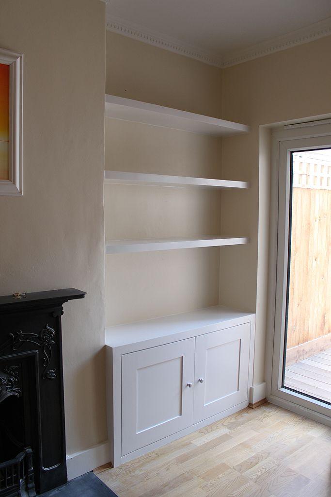 Wardrobe company floating shelves boockcase cupboards for Bathroom alcove shelves
