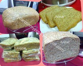 : Pan Julycar de salvados y gluten dieta Dukan  Ingredientes:  400 gr de agua  1 huevo ó 1 clara (opcional) 1 cucharada de leticina de soja (opcional pero es mejor ponerla) 1 cucharada de levadura de cerveza (opcional) 1 cucharadita y media de sal 1 cucharadita de edulcorante  225 gr de salvado de avena 50 gr de salvado de trigo  150 gr de gluten de trigo   3 cucharadas de semillas (de sésamo y lino, ya mezcladas) 15 gr de levadura de panadero   ó 37gr de levadura fresca