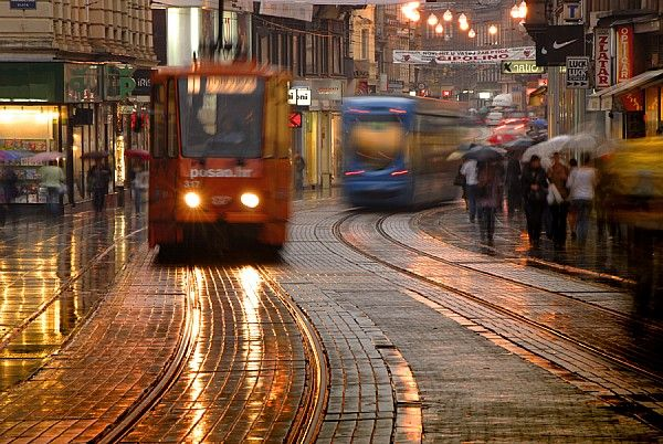 Rainy Night In Zagreb By Don Wolf Zagreb Zagreb Croatia Rainy Night