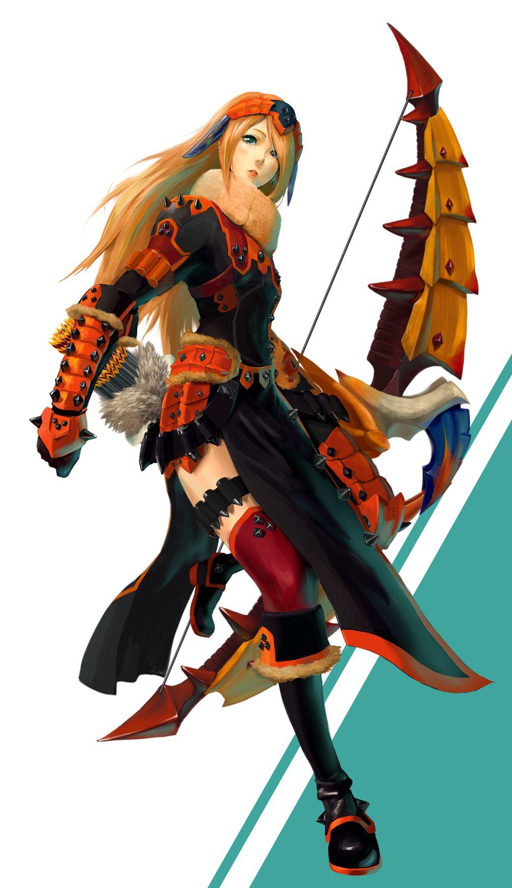 Female Sand Barioth Armor Gunner Monster Hunter Series Monster