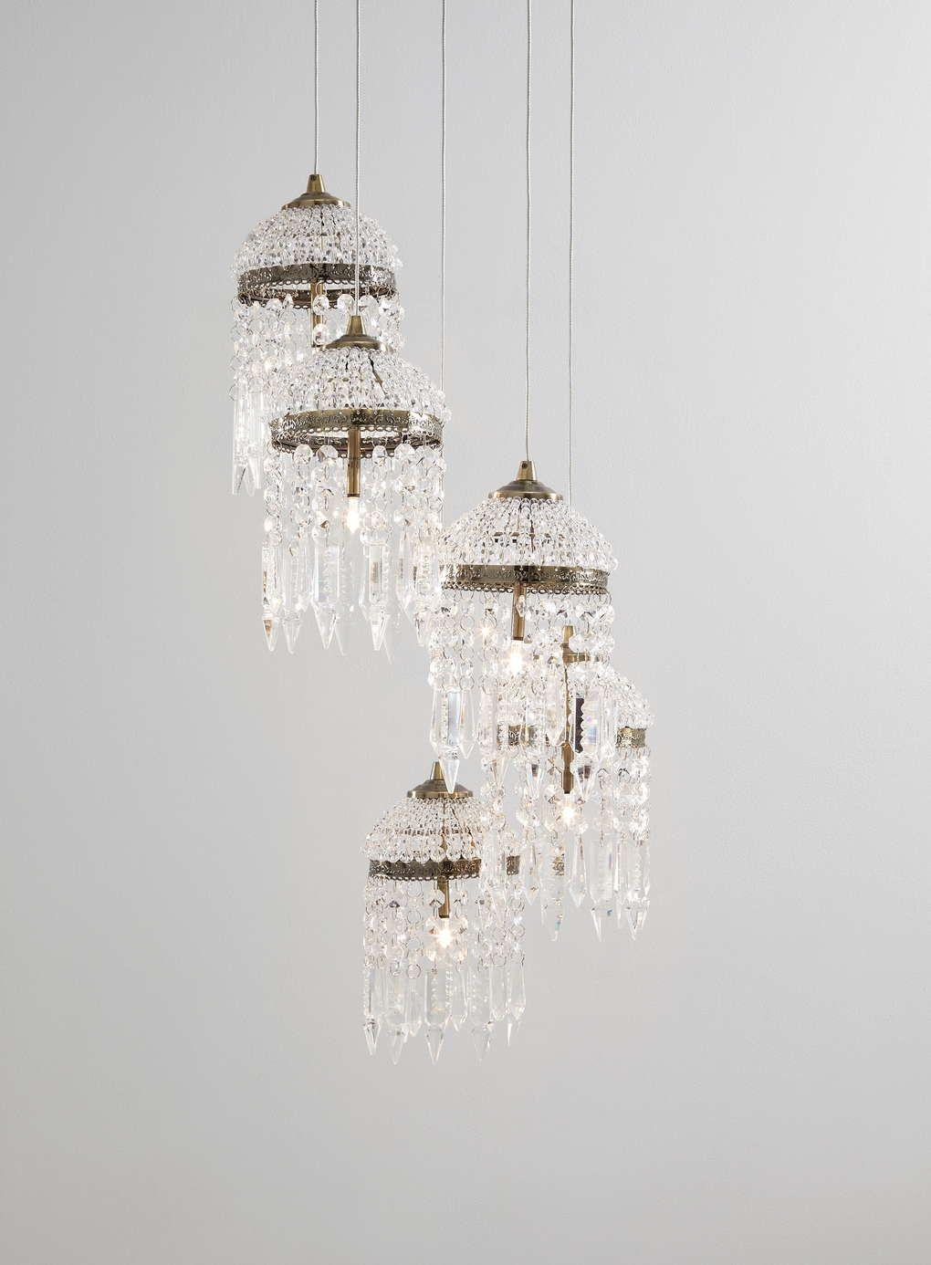 Antique Brass Cannes Cer Ceiling Light Bhs