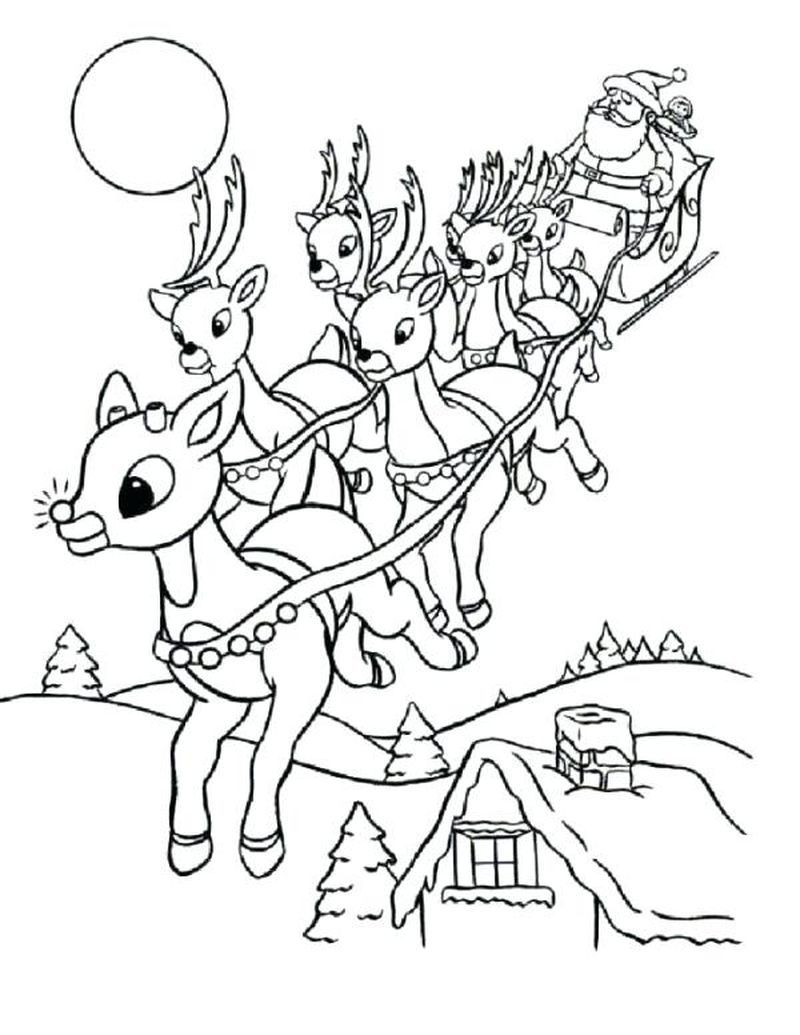 Cool Reindeer Coloring Pages Ideas For Children - Free Coloring