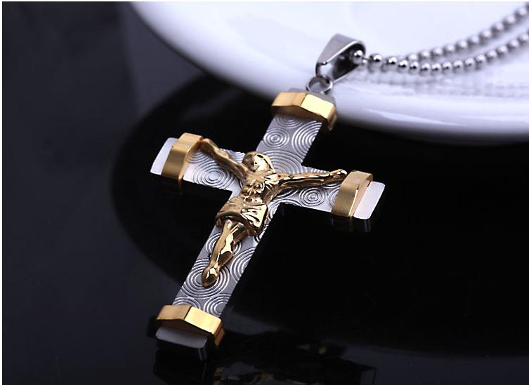 Crucifix cross trendy stainless steel cross pendant men jewelry crucifix cross trendy stainless steel cross pendant men jewelry wholesale cross necklacependant aloadofball Choice Image