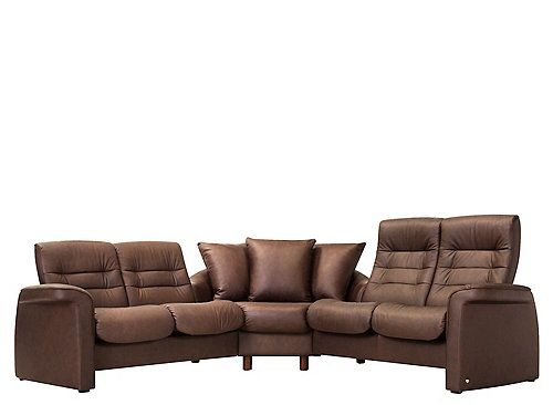 Stressless Sapphire 3 Pc Leather Reclining Sectional Sofa
