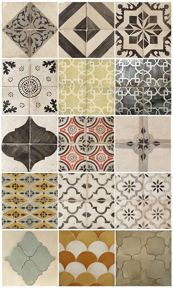 Really like this geometric/moroccan patterns--clean, interesting ...