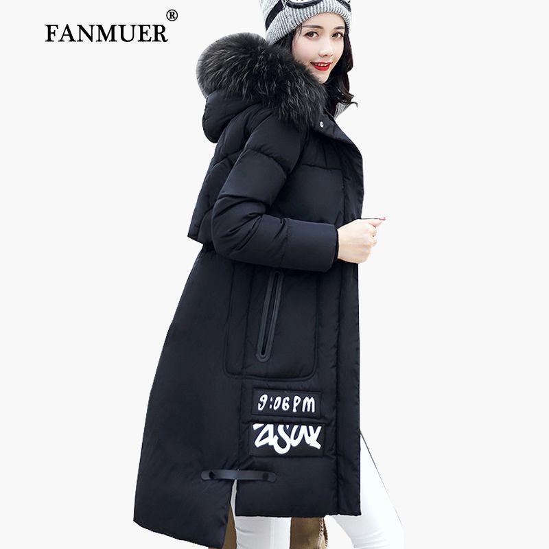 Fanmuer 2017 veste D hiver femmes fourrure d hiver manteau à capuchon femmes  vêtements vestes long femme coton parka jaqueta feminina invern dans Parkas  de ... 7a8b3daae9f