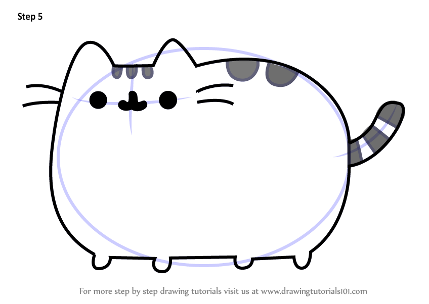 Learn How To Draw Pusheen The Cat Memes Step By Step Drawing Tutorials How To Draw Pusheen Cats Drawings