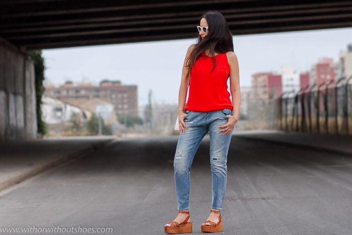 Look cómodo para ir de rebajas: #Jeans loose fit #MeltinPot y sandalias cuña Isabel Marant | With Or Without Shoes - Blog Influencer Moda Valencia España