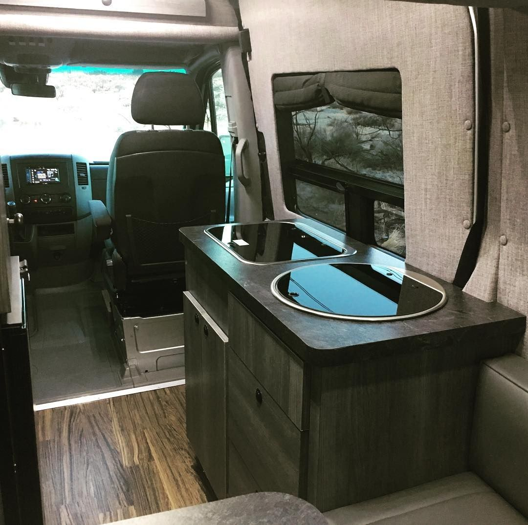 316 Likes 17 Comments Connecting Sprinter Van People Sprintercampervans On Instagram I Bearfoottheory Wanted A Big Bed While Maintaining The Walkway