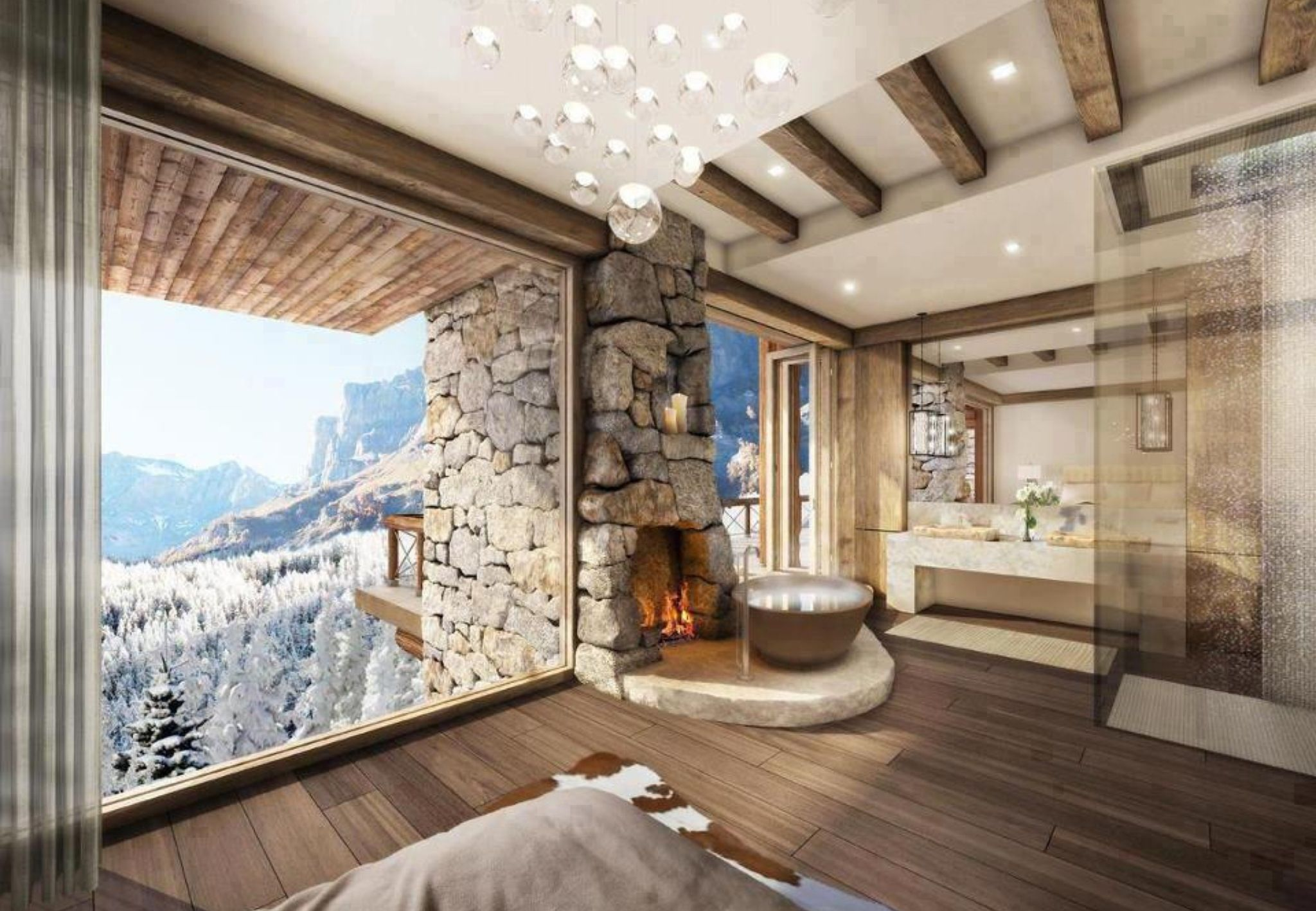 It S The Skiing Season Would You Rather Be Chilling In Your Chalet With Breathtaking Views Right Now Rustic House House Design Ensuite Bathroom Designs