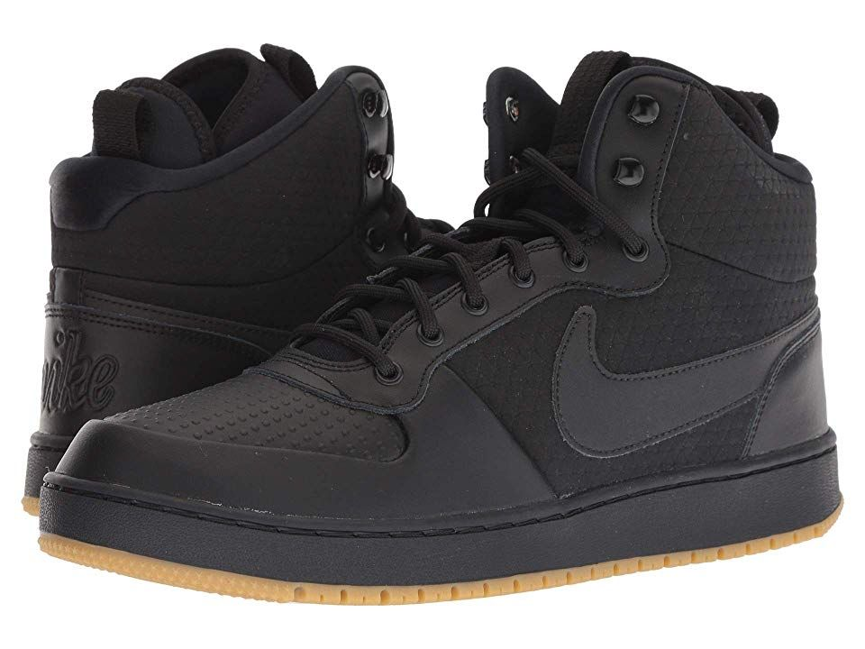 Nike Ebernon Mid Winter Black Black Gum Light Brown Men S Shoes Bring Some Heat During The Colder Months With The Nike Eber Nike Black Gums Casual Sneakers