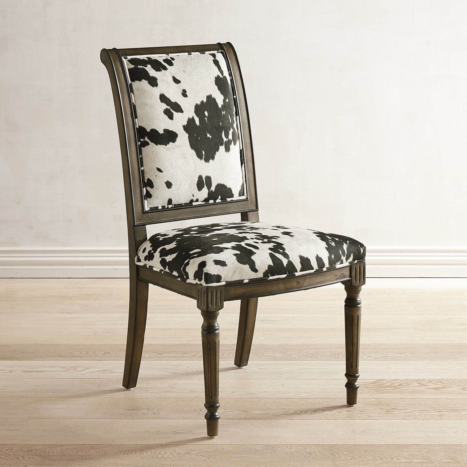 Harper cow print dining chair