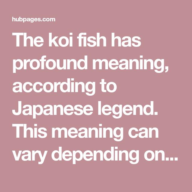 Koi Fish Tattoo Meaningcolor Direction And More Koi Koi Fish