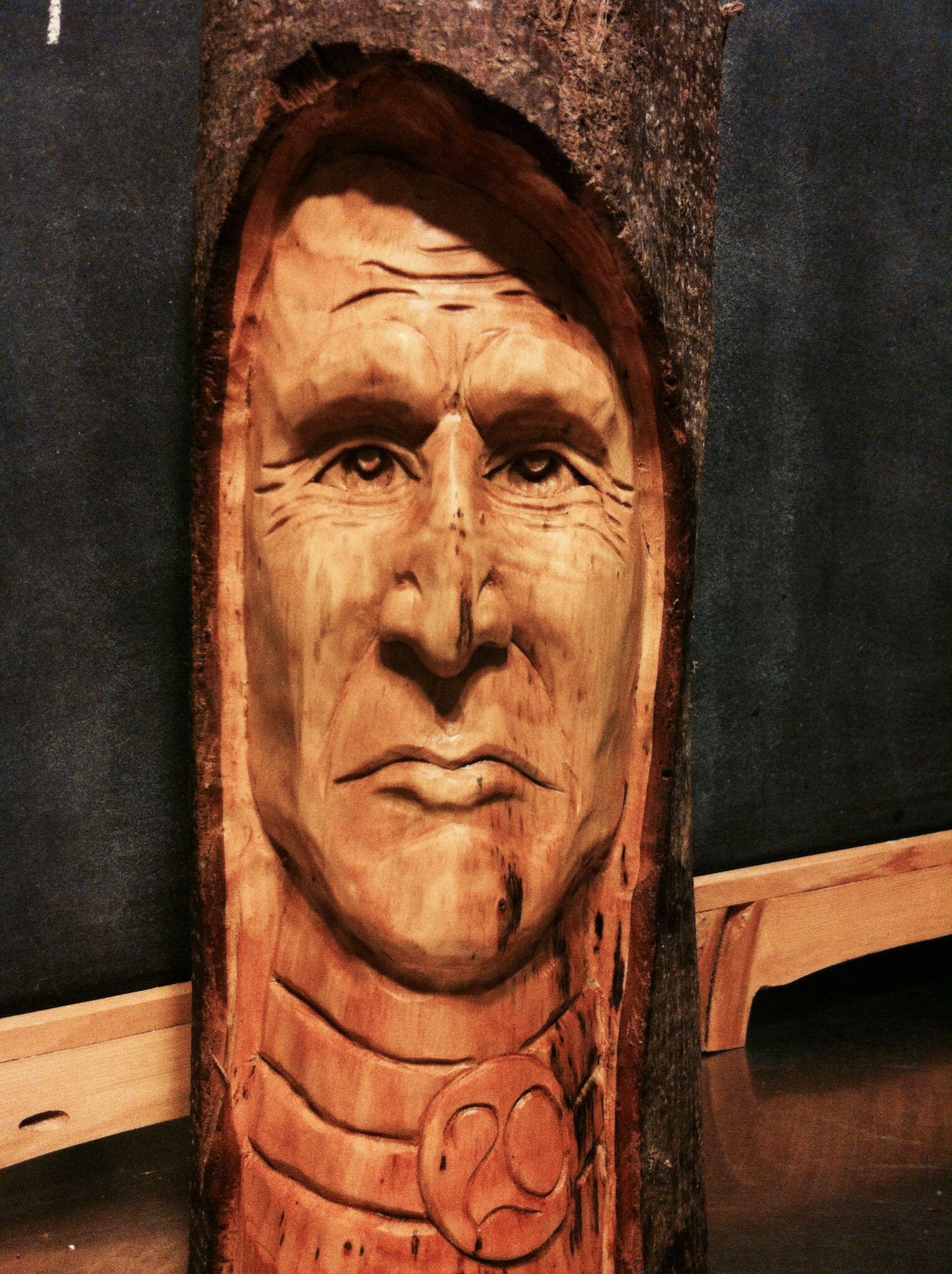 Native Wood Spirit In Bass Wood Hand Carved By Elizabeth Brown Holz Schnitzen Schnitzen Holz