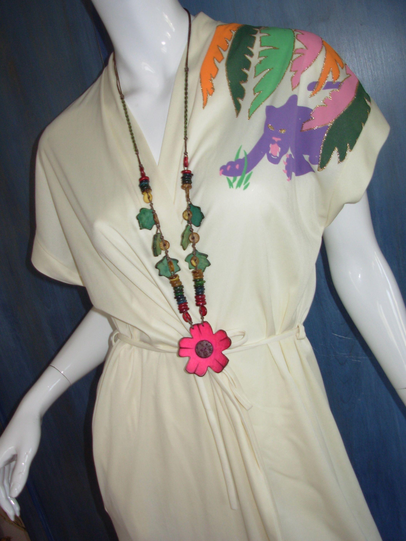 Vintage 70s 80s panther dress