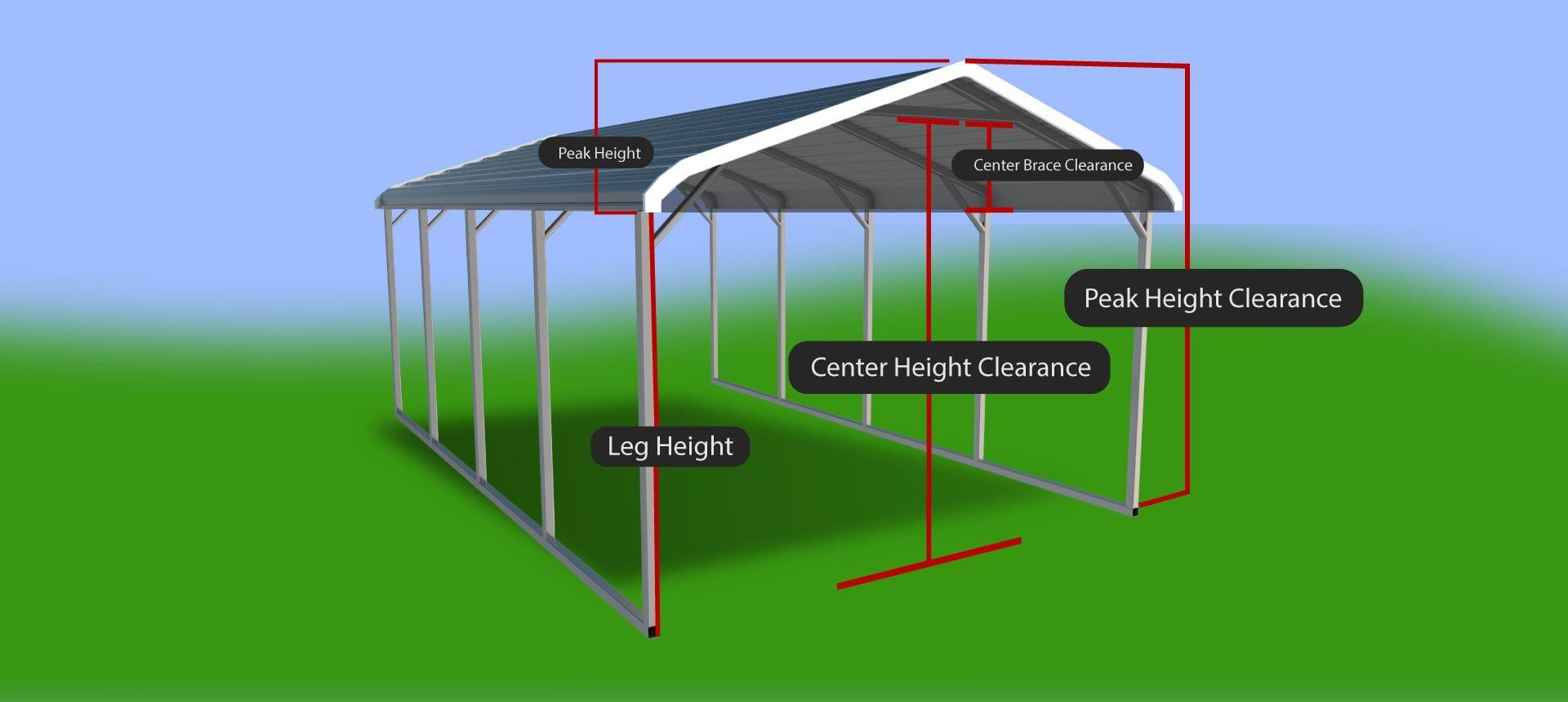 heightrefcarport Steel carports, Steel buildings, Rv cover