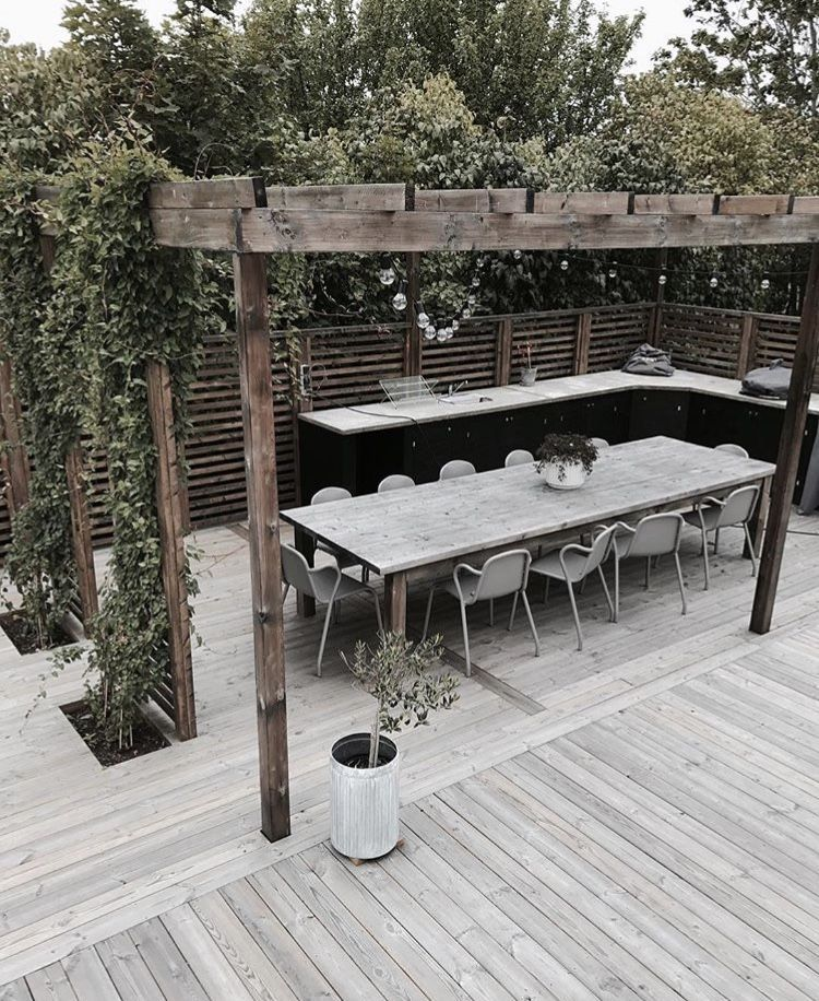 Diy Outdoor Kitchen On Deck: 26 DIY Garden Privacy Ideas That Are Affordable & Incredible