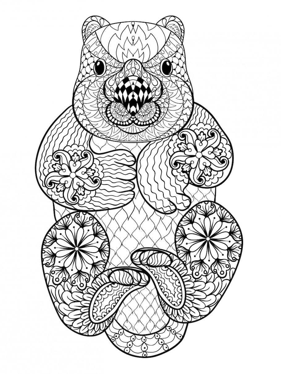 Detailed Beaver Doodle Doodle Is Art Animal Coloring