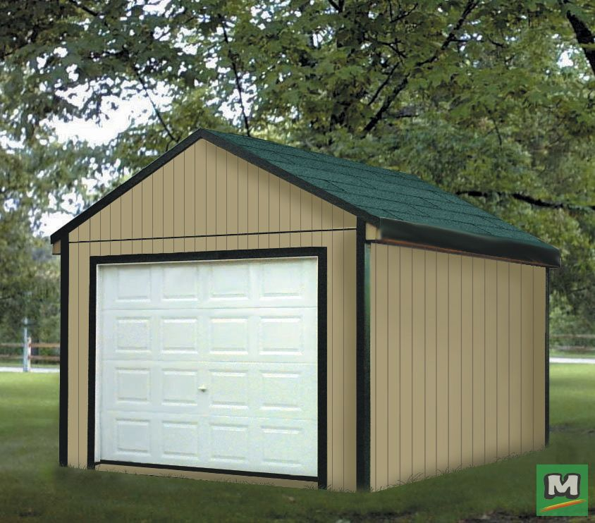 This 12' X 12' Gable Storage Building Project Is A Great