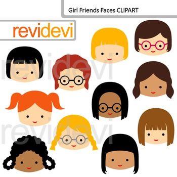 Clip Art Girl Friends Faces Classmates Friends Clipart Clip Art Art Girl Friends Clipart