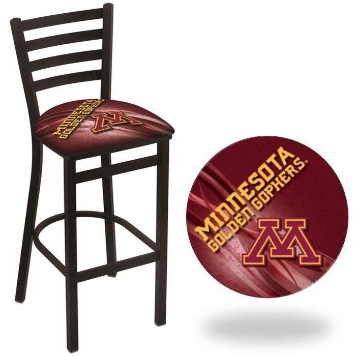 Minnesota Golden Gophers D2 Stationary Ladder Back Bar Stool.  Visit SportsFansPlus.com for Details.