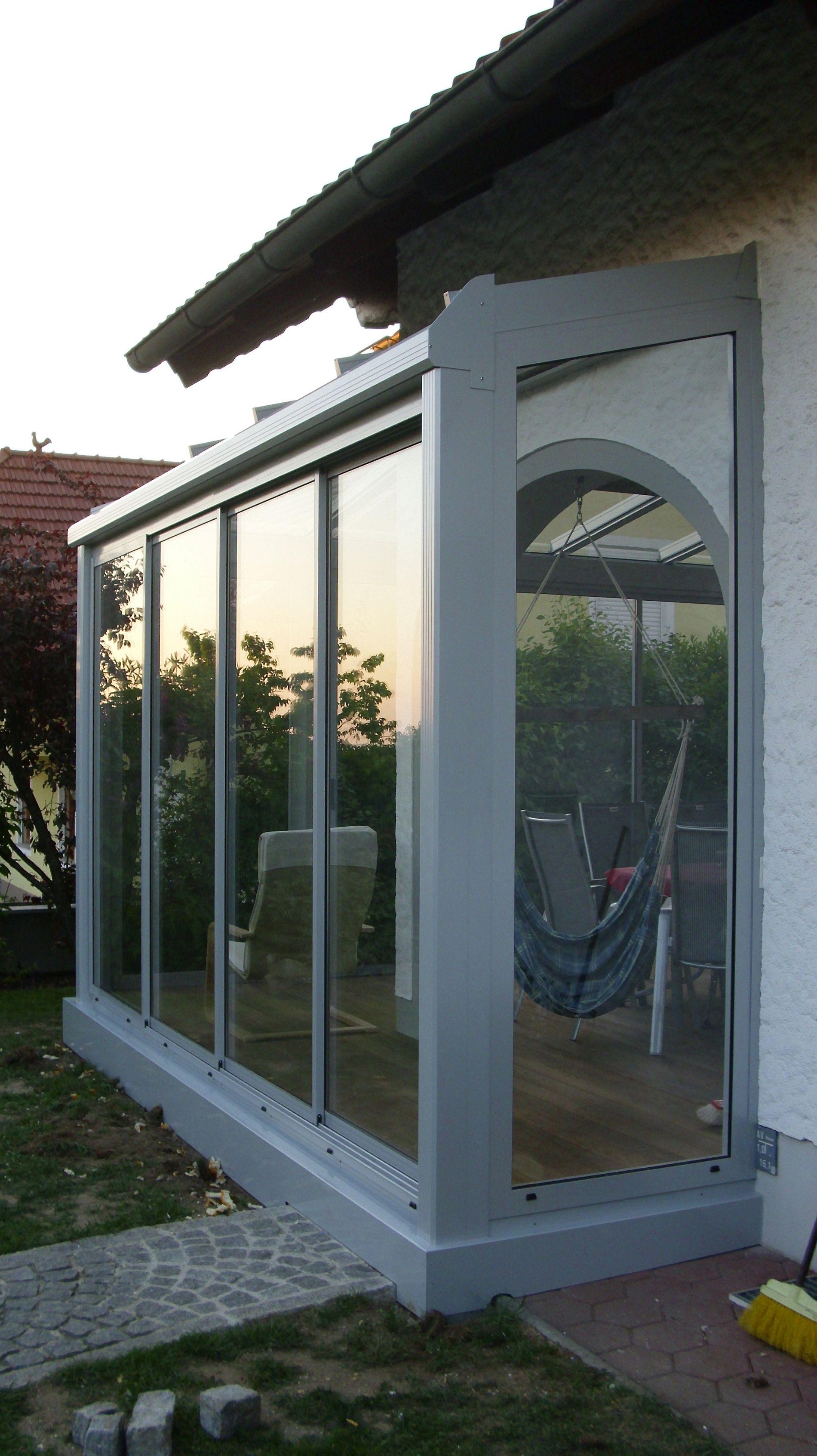Wintergarten Schiebetur Verglasungen Balkon Terrasse