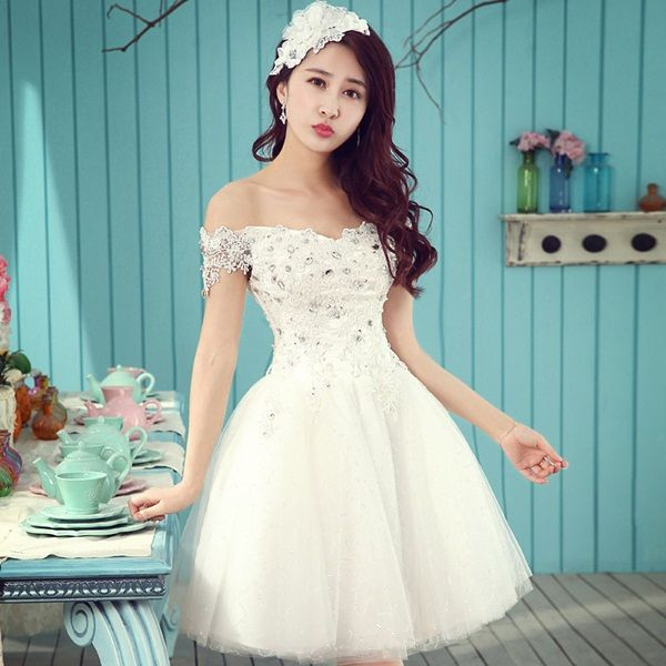 40 Beautiful Short Wedding Dresses For Girls | Short wedding dresses ...