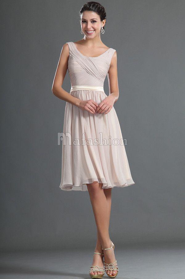 Robe de Graduation/ Robe Demoiselle d\'honneur en Chiffon Tissu à ...
