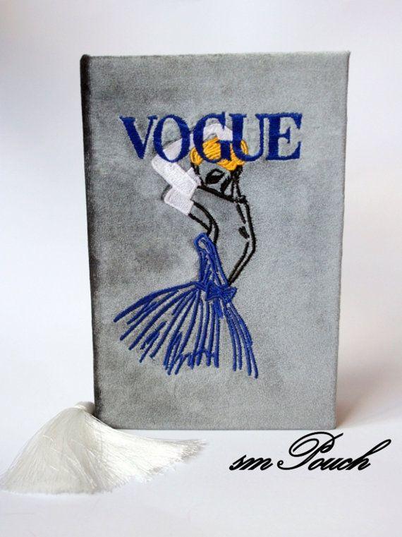 Book Clutch \'\'Vogue\'\' 21x14x5cm Grey color. от BookClutchMSPouch ...