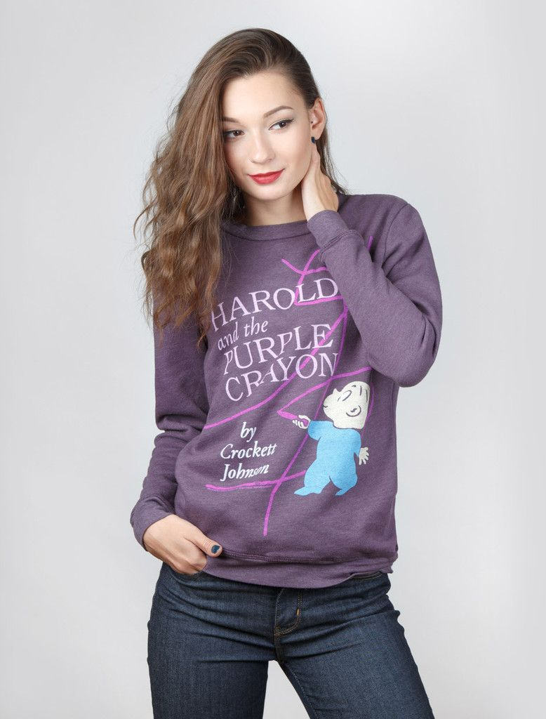 Harold and the Purple Crayon sweatshirt