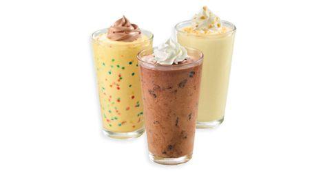 Zackys MilkshakesBanana Pudding and Birthday shakes FOOD