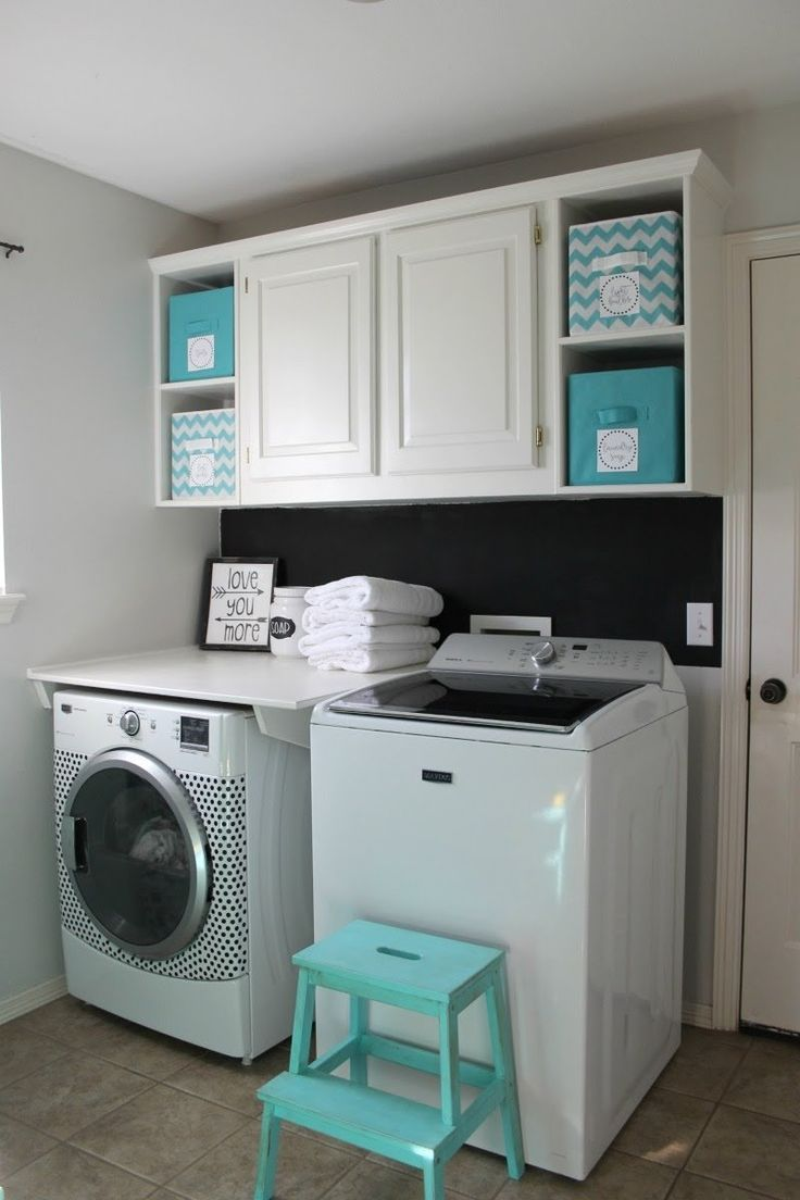 laundry room ideas with top loader  Laundry room storage shelves