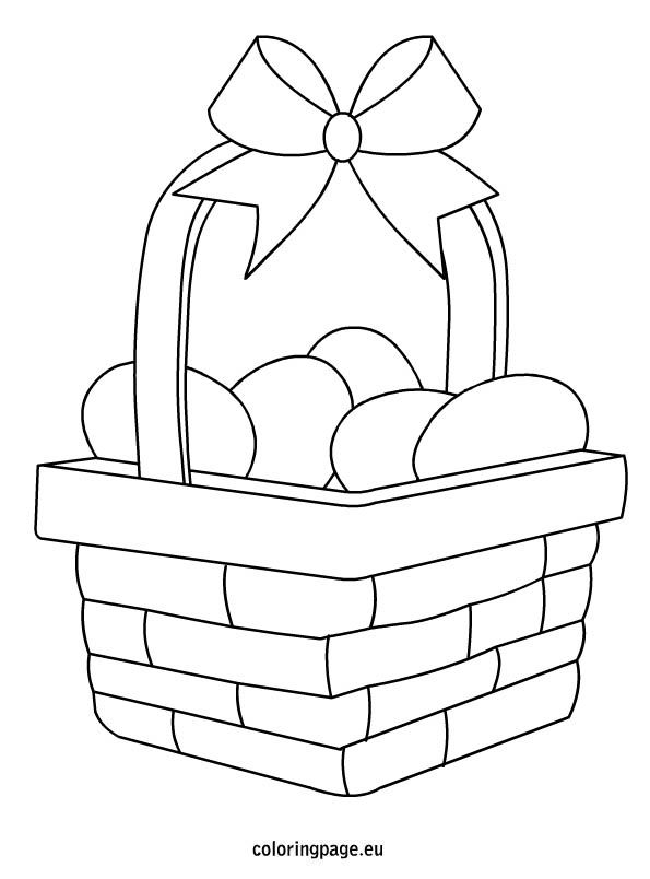 easter egg basket coloring