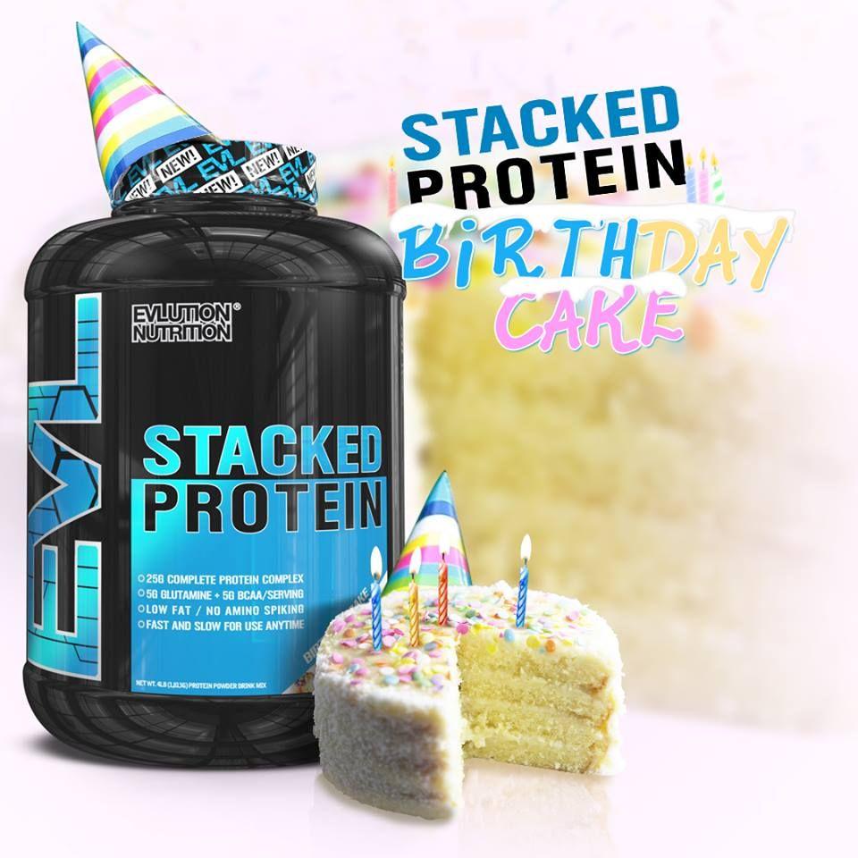 Amazing Flavor 25g Complete Protein Complex Stacked Birthday Cake Evlnutrition EVL