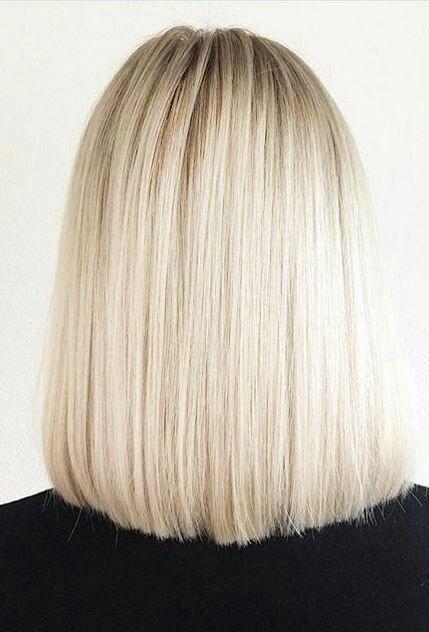 Blonde Blunt Long Bob Haircut Hair And Beauty Hair Hair Styles