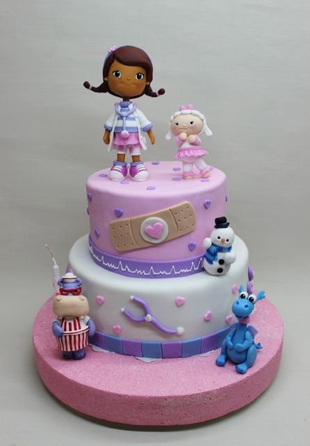 Amazing Doc Mc Stuffins Birthday Party Cake See More Party Ideas At Birthday Cards Printable Nowaargucafe Filternl