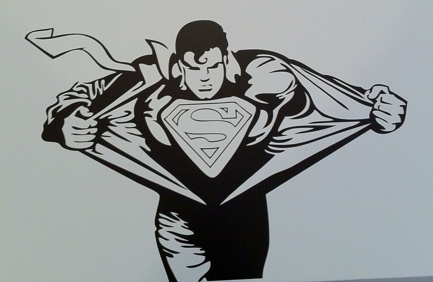 Superman Room Ideas Superman Wall Decal Boys Room Decor Superhero Decal