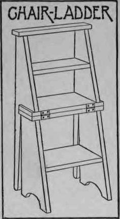 How To Make A Chair-Ladder - I need one of these