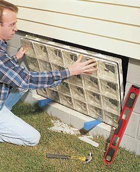 installing glass block basement windows the family handyman rh pinterest com Basement Window Installation installing glass block basement windows video