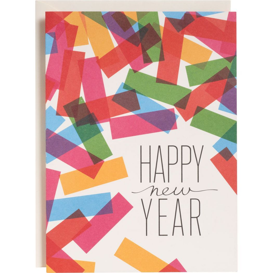 Colorful Confetti New Year Cards Stuff To Make Cards New Year