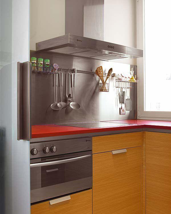 Cocinas con color combinar encimeras muebles y - Frentes de armarios de cocina ...