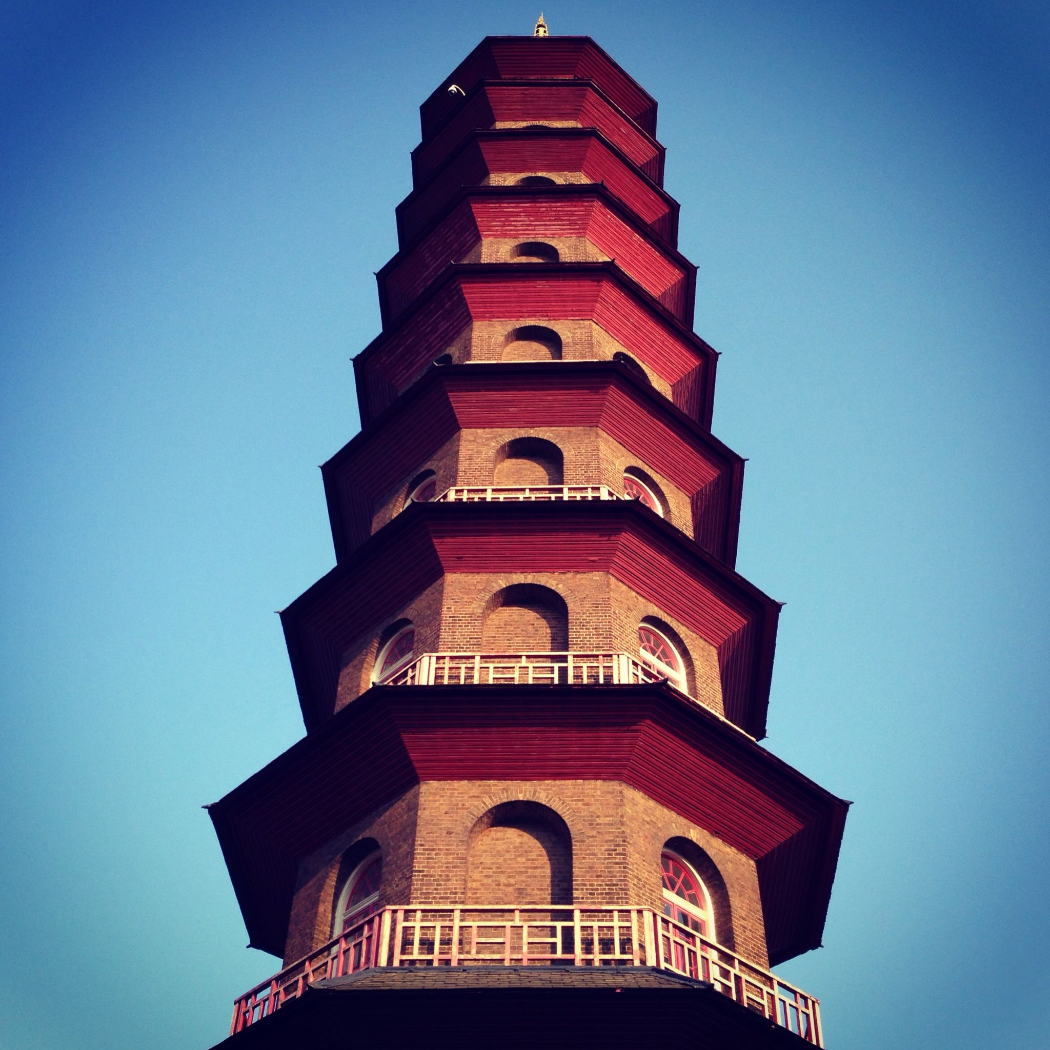 Pagoda, Kew Gardens. Sunny afternoon spent reading.