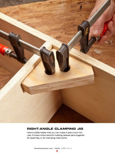"""I saw this in """"Ken's favorite shop tips"""" in The Family Handyman April 2014."""