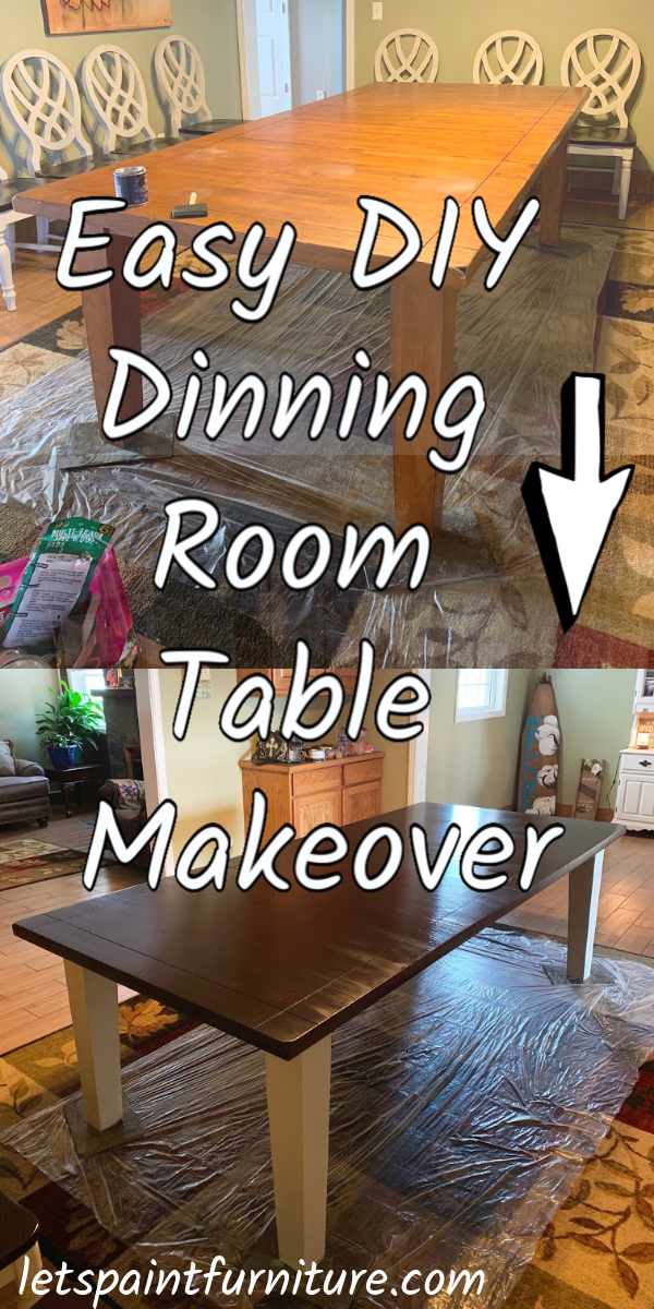 How to Easily Redo a Dinning Room Table and chairs! Discover an affordable way to DIY your dinning room table! - Let's Paint Furniture!