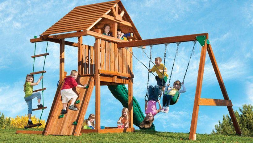 Plastic Swing Sets: Built To Last | Backyard playground ...