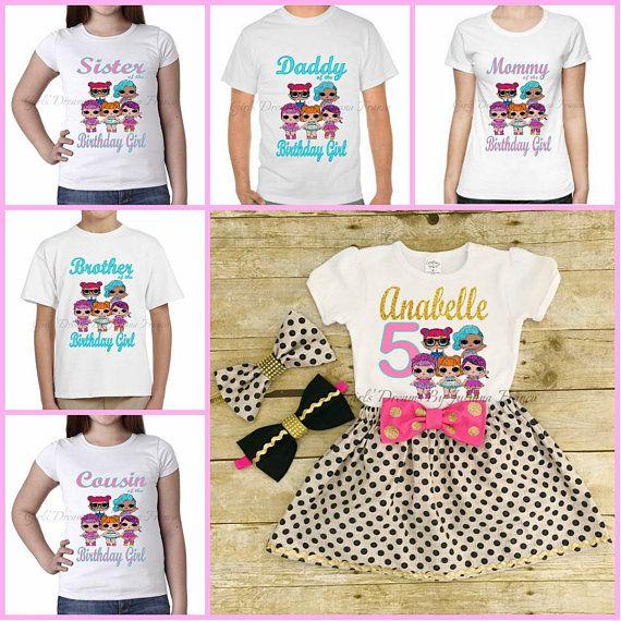 c21f98713 LOL Dolls Family Shirts, LOL Doll Shirt, Family Shirt, LOL Doll Birthday  Shirt, Lol Doll Birthday, Lol Dolls, Personalized Lol Dolls Shirt