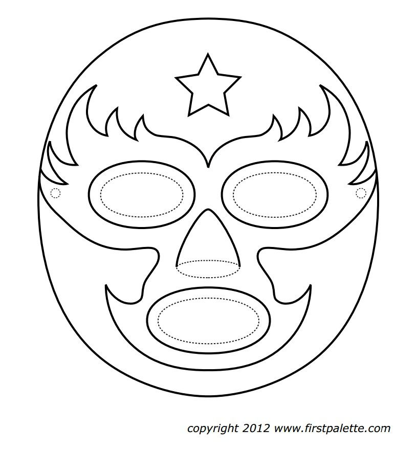 Mexican Wrestling Masks Mexicans, Masking and Craft - copy coloring pages wwe belts
