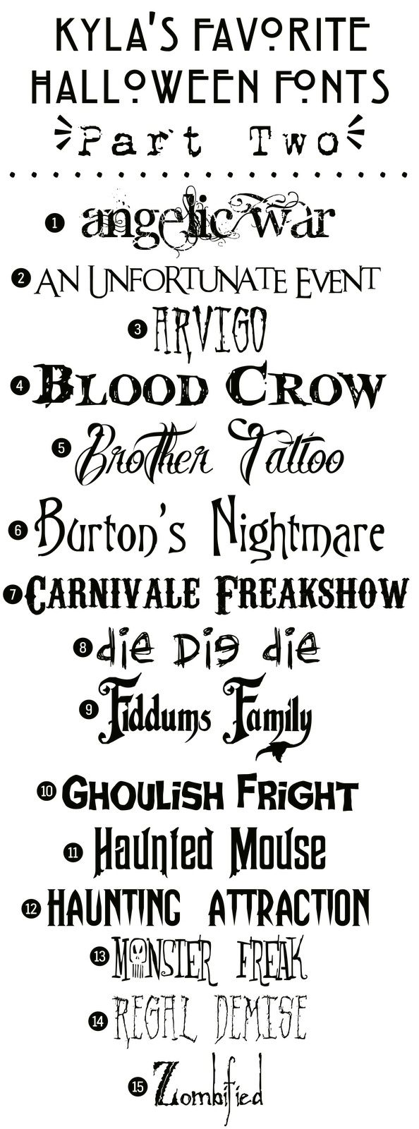 Populaire Funky Polkadot Giraffe: Kyla's Favorite Free #Halloween Fonts  XS02